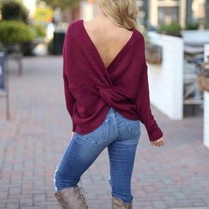ANDREA Knit Sweater - WINE